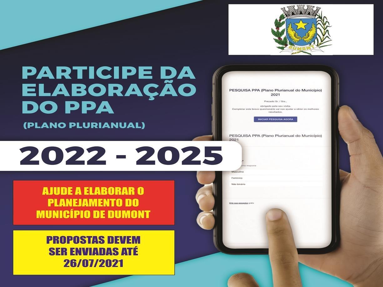 Audiência para Elaboração do  PPA (Plano Plurianual) 2022-2025 - Colabore / Participe