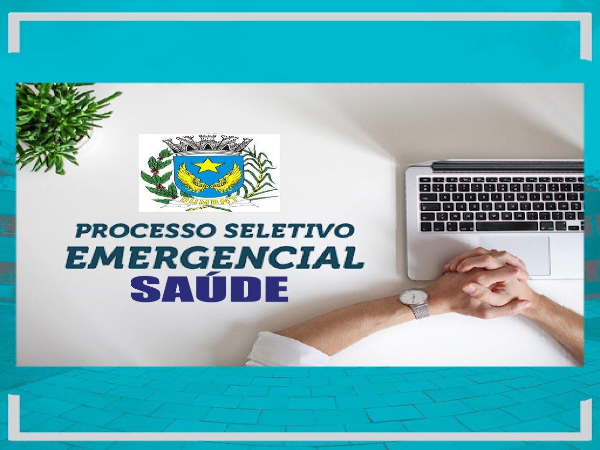 PROCESSO DE SELEÇÃO EMERGENCIAL nº 001/2020 - SÁUDE