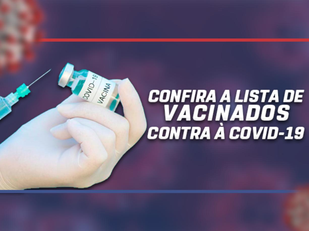 LISTA DE VACINADOS - COVID19
